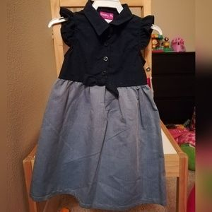 Other - Navy Blue & Denim Sleveless Dress